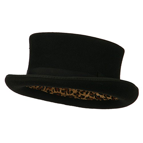 Wool Felt Top Hat Adult (Men's Top Hat Wool Felt Hat - Black L)