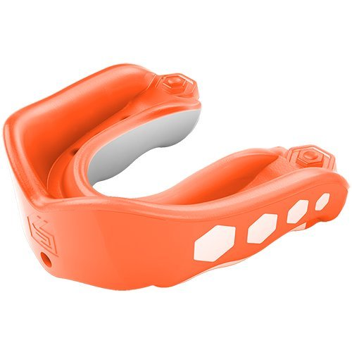 Shock Doctor Gel Max Flavor Fusion Convertible Mouth Guard, Orange, Adult
