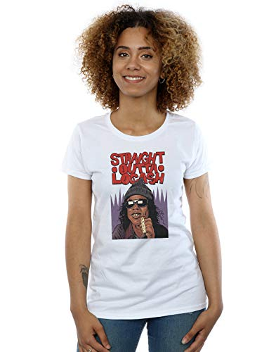 Pennytees Blanco Camiseta Straight Mujer Outta Locash Cult Absolute aCqOO