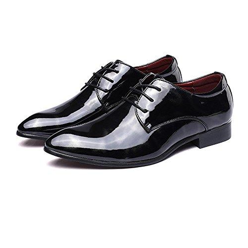 pelle liscia 39 BMD formale pelle pittura EU astratta Shoes affari Rosso da Oxford foderato di Color Nero Lace in Scarpe Scarpe Up liscia Low Top classica uomo Dimensione r487xr