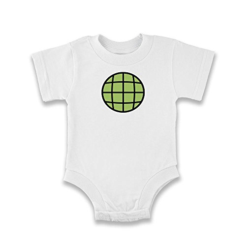 Planeteer Costume (Planeteer Costume White 18M Infant Bodysuit by Pop Threads)