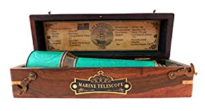 18 Inch Brass Ship Captain Telescope with Rose Wood Box.C-3111