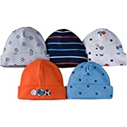 Gerber Baby Boys 5 Pack Cap, Lil Athlete, 0-6 Months