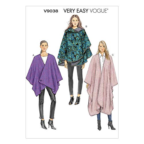 Vogue Patterns V9038 Misses' Cape Sewing Template, Size ZZ (Large-X-Large-XX-Large)]()