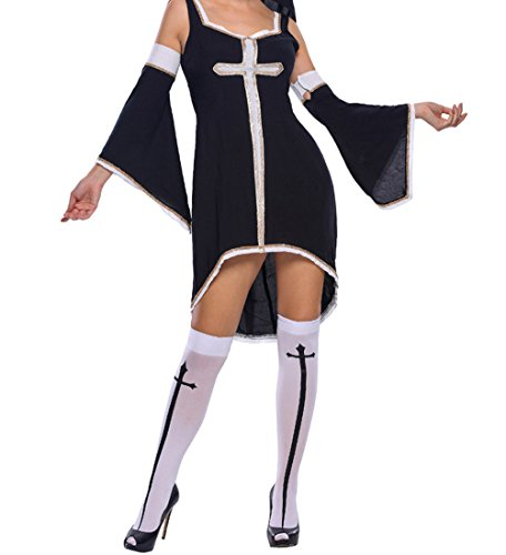 [YFFaye Women's Sinful Nun Costume M] (Eskimo Hat Costume)