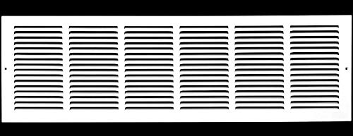 """30""""w X 10""""h Steel Return Air Grilles - Sidewall and Ceiling - HVAC DUCT COVER - White [Outer Dimensions: 31.75""""w X 11.75""""h]"""