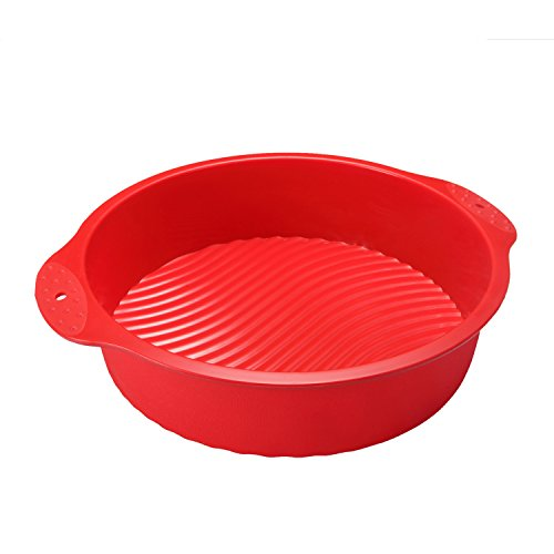 Unicook Round Cake Mold Pan Bakeware Tray Silicone Mould Patry Maker,Food Grade Silicone, - Mould Food