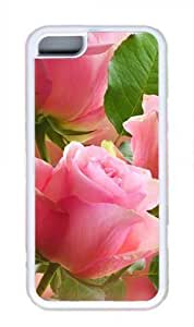 3D Light pink roses Masterpiece Limited Design DIY Case for iPhone 5C TPU White by Cases & Mousepads