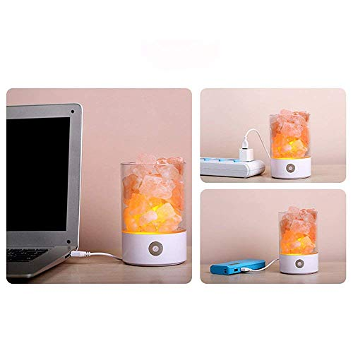 Nanle Himalayan Salt Lamp, Natural Crystal Salt Light with Touch Dimmer Switch LED Multicolour Changing Bulb for Bedroom Office Decoration and Air Purifying (Color : Black) by Nanle (Image #4)