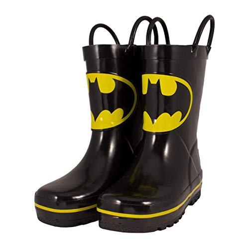 Favorite Characters Batman Rain Boots Black/Yellow Toddler/LittleKid (11