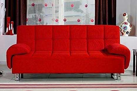Divano Rosso Ecopelle : Divano letto 200x99 rosso antiribaltamento braccioli regolabili in