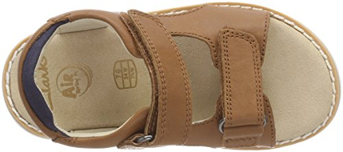 Clarks Crown Root, Sandalia con Pulsera Para Niños Marrón (Tan Leather)