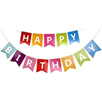jijAcraft Happy Birthday Paper Banner Bunting for Party Decorations