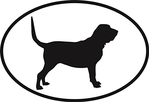 Bloodhound Euro Oval Bumper Sticker ()