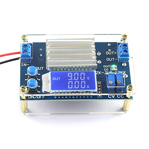 (DZS Elec DC-DC Buck Converter Module 5.3-32V 24v to 1.2-32V 5v 9v 12v 12A 160W Large Power Adjustable Step Down Voltage Regulator CC CV Power Supply with LCD Display )