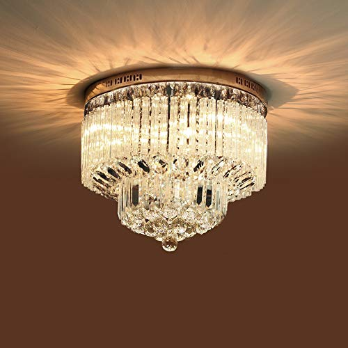 LED Modern Chandelier Crystals Pendant Flush Mount Ceiling Light Crystal Ball Light Fixture for Hallway, Bedroom, Living Room, Kitchen, Dining Room D 45cm 7-Light