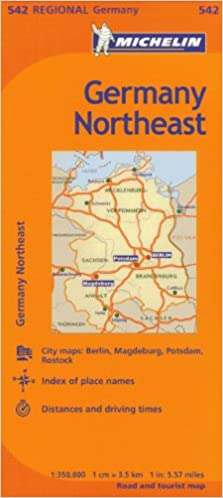 Map Of Germany Over The Years.Michelin Germany Northeast Map 542 Maps Regional Michelin