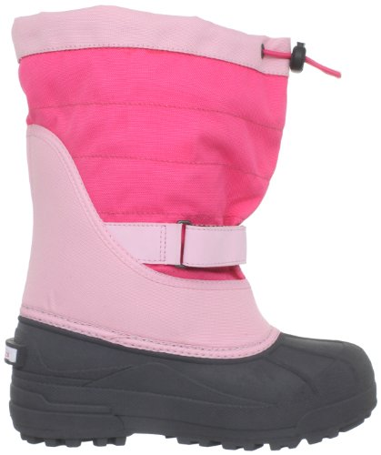 Columbia YOUTH POWDERBUG PLUS II - Botas De Nieve de material sintético infantil rosa - Pink (Satin Pink, Afterglow 952)
