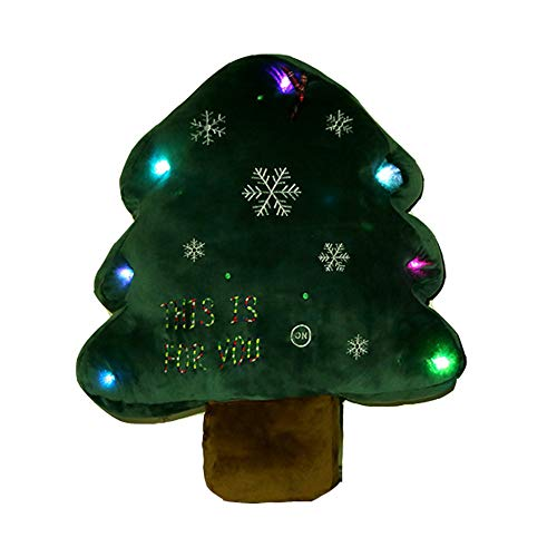 GXOK Colorful Christmas Tree Plush Toy Christmas Decoration Gift Creative Gift Toy Gifts Children Gifts (A85cm) (Up Shake Christmas Noten)