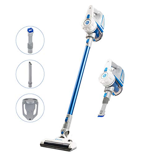 Vacmaster Cordless Vacuum Cleaner Stick Handheld Vacuum 2-in-1 Wall Mounted Power Suction Lightweight with Washable Filter for Cleaning Carpet, Hard Floor, Car and Pet Hair