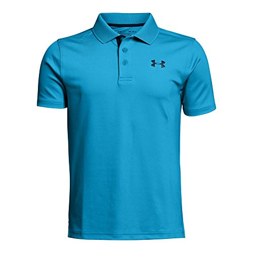 Price comparison product image Under Armour Boys Match Play Polo Shirt,  Canoe Blue (713) / Academy,  Youth Large