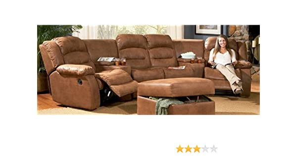 Amazon Com Jackson Reclining Sectional Sofa Home Theater Seating