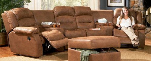 Amazon.com: Jackson Reclining Sectional Sofa Home Theater Seating!: Kitchen  U0026 Dining