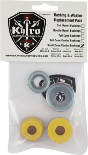 Khiro Small Cone Combo Bushing & Washer 92a Medium Hard Yellow