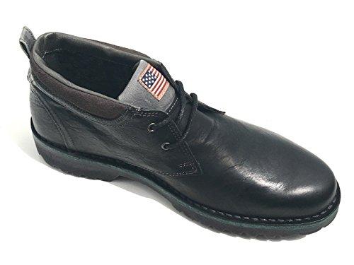 U.S.Polo Percy - Zapatillas de Piel Para Hombre Negro Negro