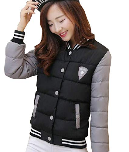 security Women Lightweight Outdoor Long Sleeve Quilted Down Jacket Black