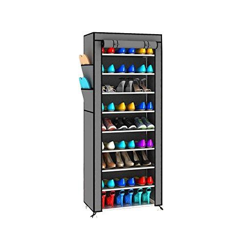 Magshion* Super Portable Closet Rack Storage Cloth Shoe Organizer-3 Style (Shoe Single, Dark Gray)