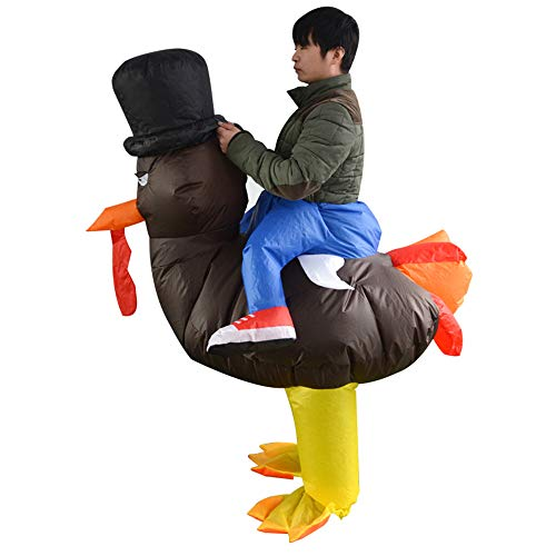 Inflatable Turkey Costume (HUAYUARTS Turkey Inflatable Costume Funny Blow up Cosplay Adult, Free Size)