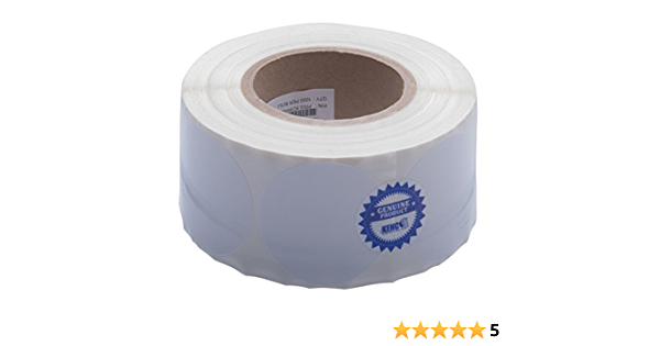 """Kenco Premium Inkjet 2.5 X 2.5 Rectangle High Gloss Paper Roll-Fed Inkjet Labels Compatible with Primera Color Label Printers and Many Other Printer Brands Supplied 1000 Labels on a 3"""" core."""