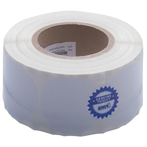 """Kenco Premium Inkjet 2.5"""" Circle High Gloss Paper Roll-Fed Inkjet Labels. Compatible with Primera Color Label Printers and Many Other Printer Brands. Supplied 1000 Labels on a 3"""" core."""