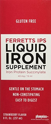 Pharmics – Ferretts IPS Liquid Iron Supplement, Better Tolerability and Absorption- Strawberry Flavor, 8 Ounces (2 Pack)