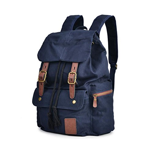 Mens Backpack Canvas Bookbag backpacks Casual Large Space Cotton bag Outdoor Sports backpack Climbing Hiking Backpack Shoulder Strap Bag Fashion Backpack (Color : 2) by YaXuan (Image #1)