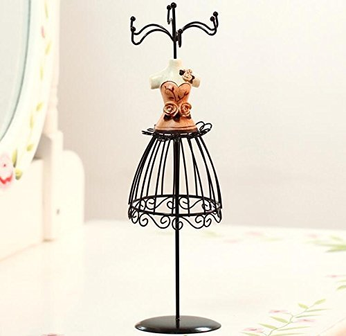Kamay's Jewelry Display Stand Decorative Holder for Storage and Presentation of Jewellery Organizer Creative Stand Resin Wrought Iron Dress Form Design Hot Girl Style (Hot Girl Orange) (Storage Hemline Craft)