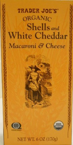 Trader Joe's Organic Shells & White Cheddar Macaroni & Cheese 6oz, 6 ()