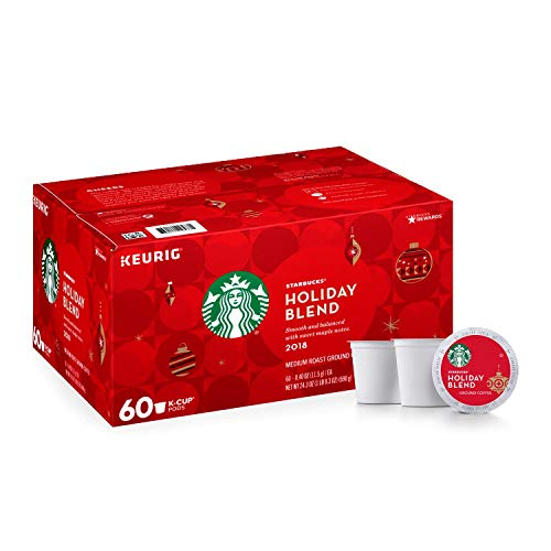 Starbucks Holiday Blend K-Cups, Medium Roast (2 Boxes Holiday Blend, 120 Count)
