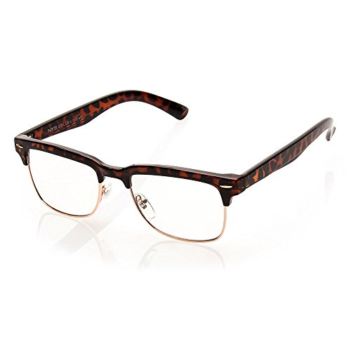 NYS Collection Audubon Avenue Metal Sunglasses, Tortoise Shell Frame/Clear - Eyewear Nys