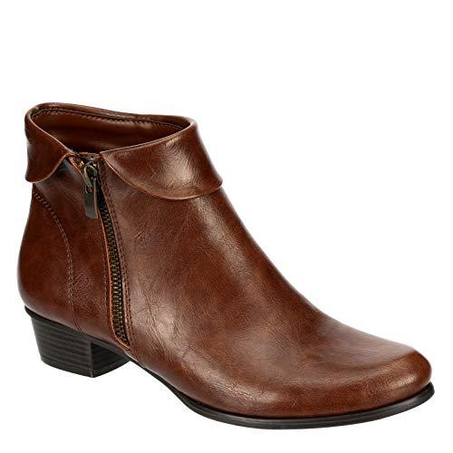 Lauren Blakwell Rue - Women's Low Heel Zip-up Short Dress Ankle Boot
