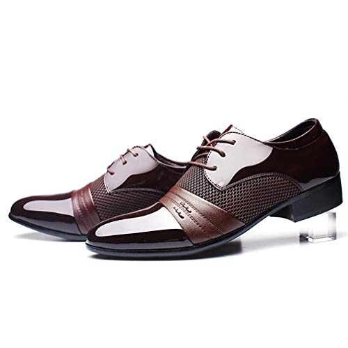 Mens Business Dress Shoes Pointed Toe Lace up Comfortable Oxford Sheos by Phil Betty (Image #5)