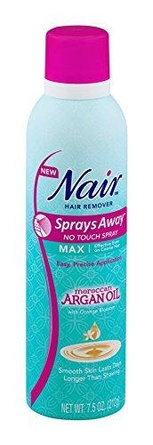 Nair Hair Remover Sprays Away No Touch Spray Max Moroccan Argan Oil