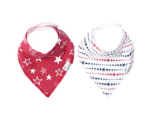 """Baby Bandana Drool Bibs for Drooling and Teething 2-Pack Gift Set For Girls or Boys """"Glory"""" by Copper Pearl"""