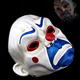 AMO バットマンジョーカーピエロ銀行強盗樹脂マスクをダークナイトスケールコスプレマスクハロウィン