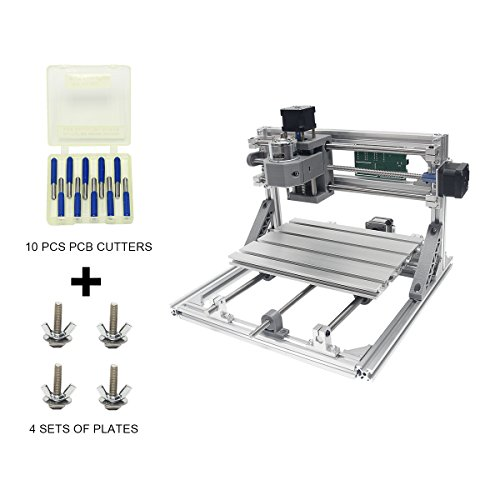 Wisamic DIY CNC Router Kits 2418 GRBL Control Wood Carving Milling Engraving Machine for Plastic, Wood, Acrylic, PVC, PCB with 3 Axis Working Area 240x180x45mm by Wisamic