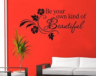 "Dailinming """"""Be Your Own Kind Of Beautiful"""" English Wall Stickers Quotes /Vinyl Wall Decor Decals """