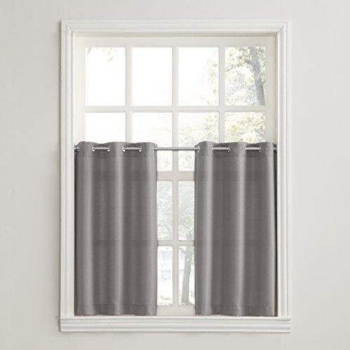 No. 918 Montego Grommet Textured Kitchen Curtain Tier Pair, 56
