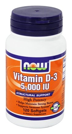 NOW FoodsVitamin D-3 Highest Potency 5000 IU - 120 Softgels