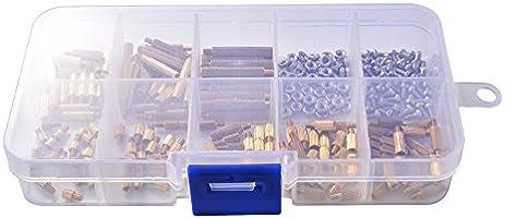260 pcs latón M2 roscados separadores Separador Tornillo tuerca de la columna macho-hembra PCB Kit Surtido: Amazon.es: Bricolaje y herramientas